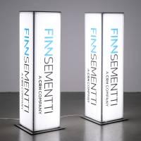 Ljusreklam / ljuspelare t-flex system