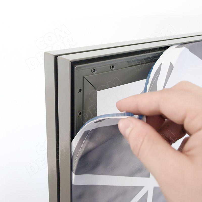 T-flex vägg med tryckt textiltyg