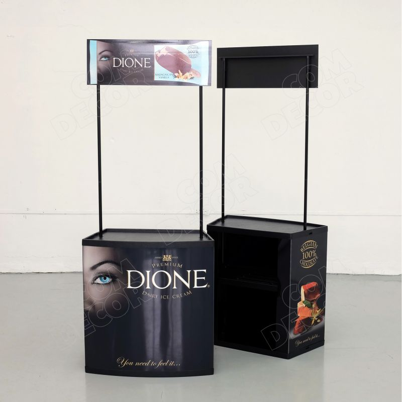 Black promotional counter