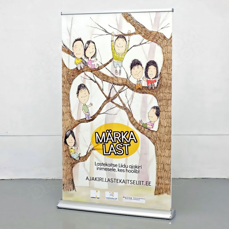 Double-sided rollup banner