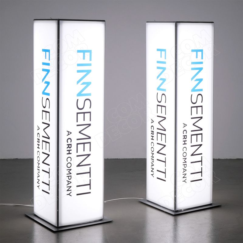 Illuminated advertisement / pylon on t-flex frame