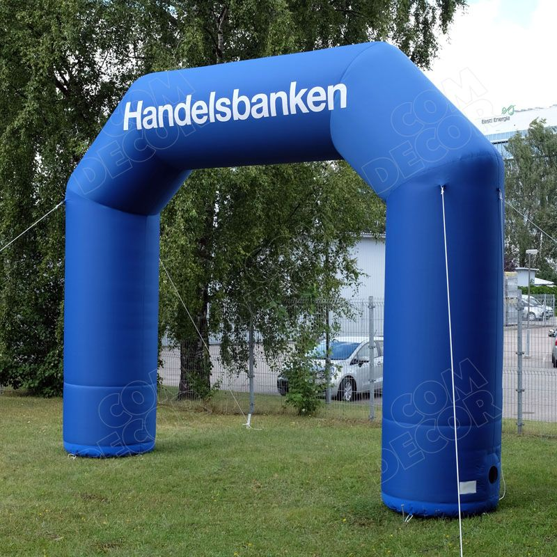 Inflatable advertising gate