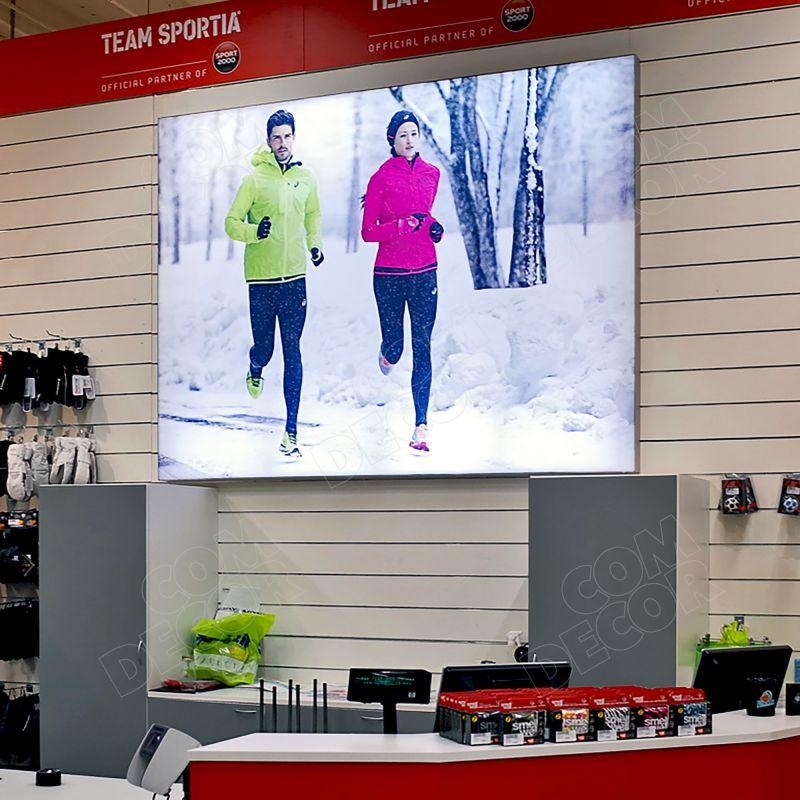 Lightbox / illuminated advertisement in the store