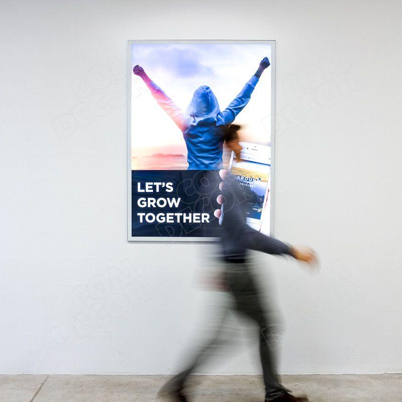 Lightbox - thin and bright illuminated advertising