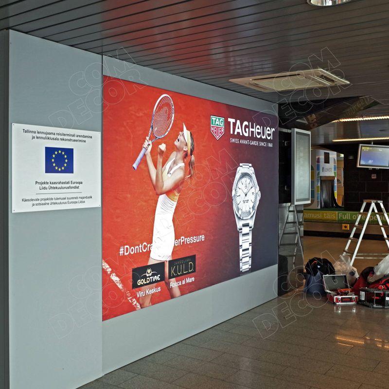 Lightboxes at Tallinn Airport