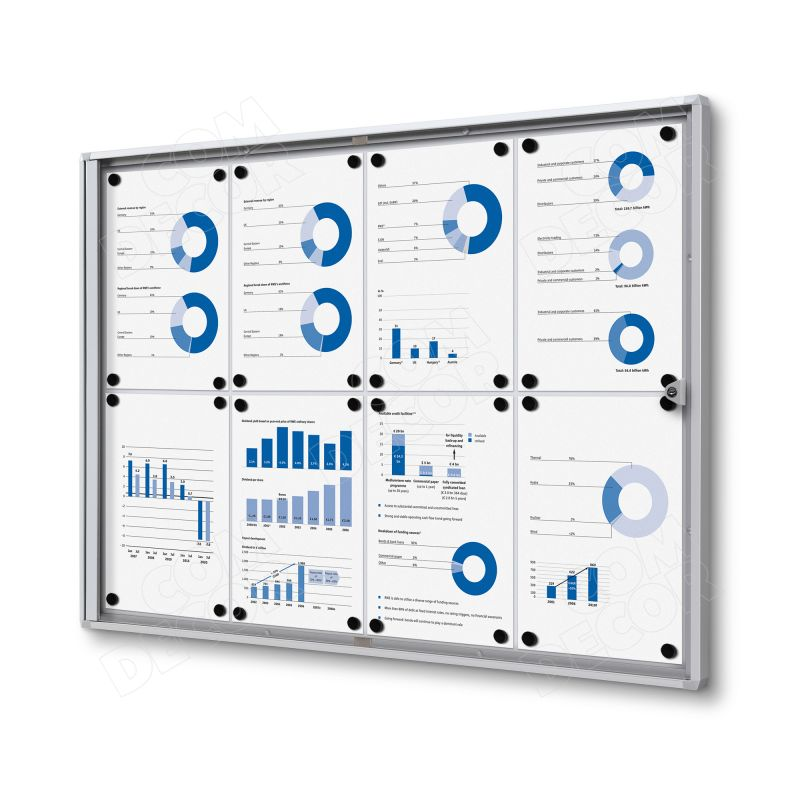 Lockable bulletin board / notice board