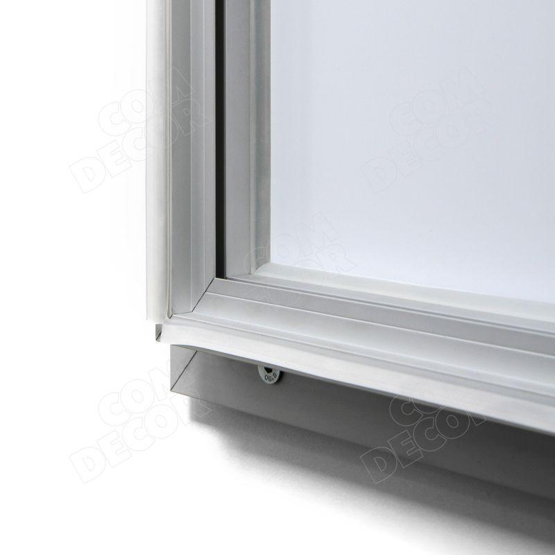 Lockable notice board / bulletin board for outdoors