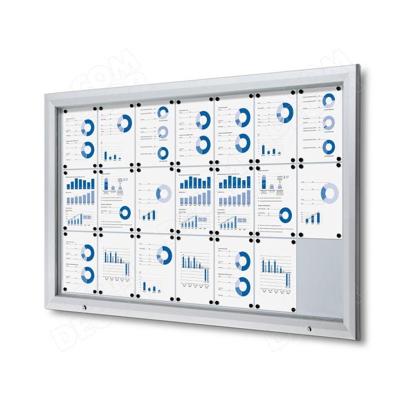 Lockable notice board / bulletin board for outdoors 21 A4