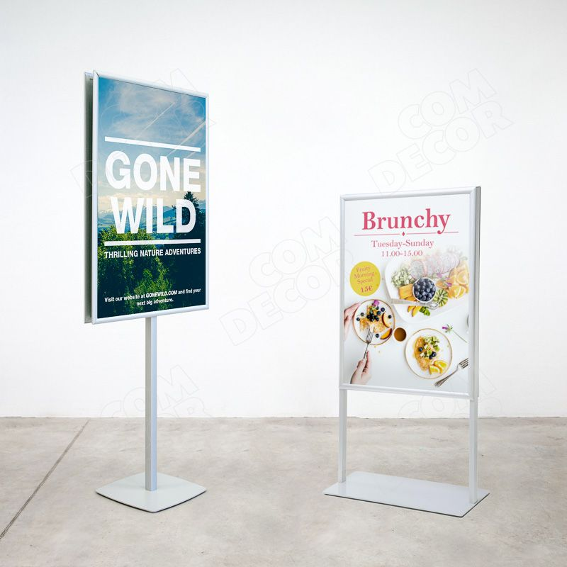Poster stands / menu stands / information stands