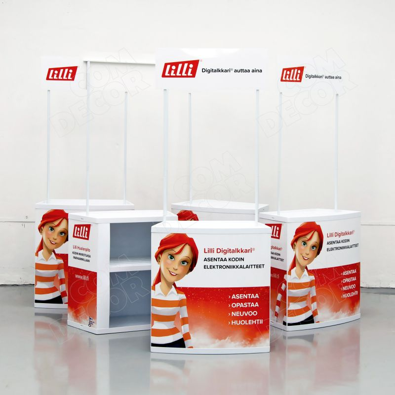 Promotional counter for product presentation