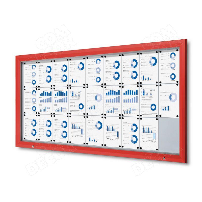 Red notice board / bulletin board