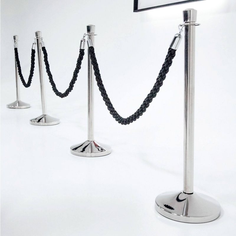 Rope queue barrier / barrier poles / barrier ropes